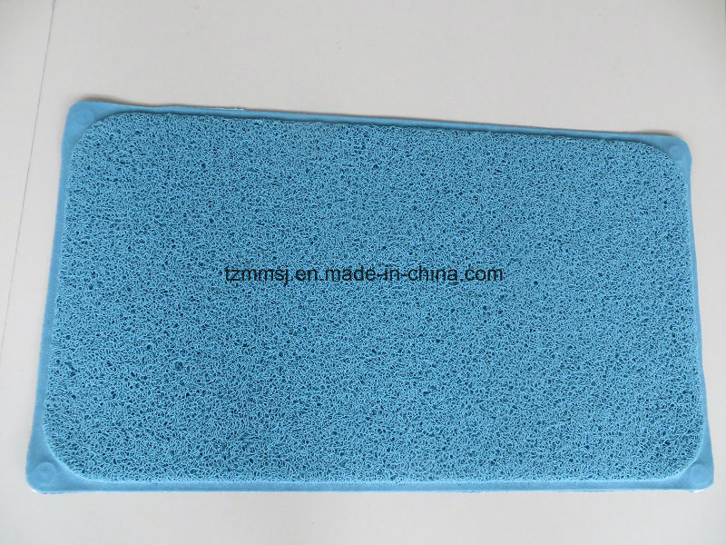 Suction PVC Loofa Bath Mat Shower Mat Floor Mat Europe Market