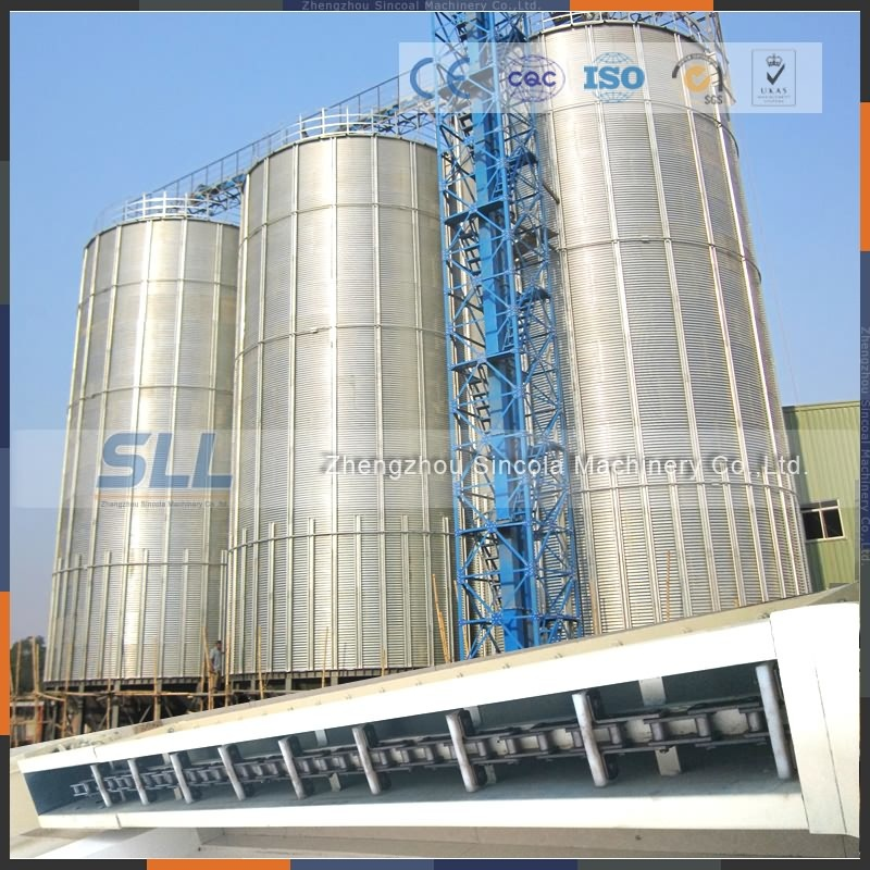 Used for Grain Storage Galvanized Steel Silo