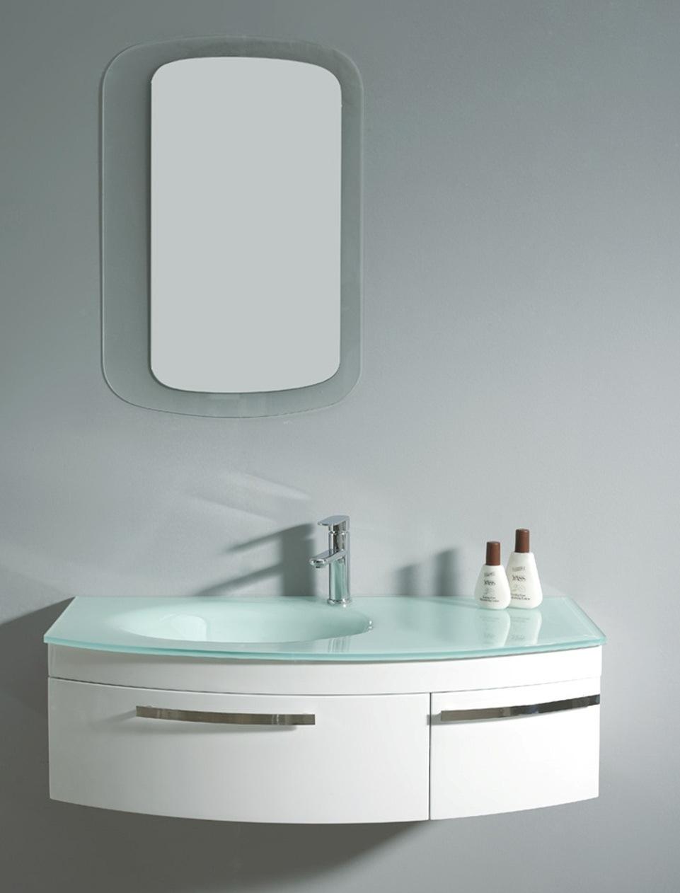 China MDF White Color Bathroom Vanity 022 1050A China Bathroom Vanity Ba