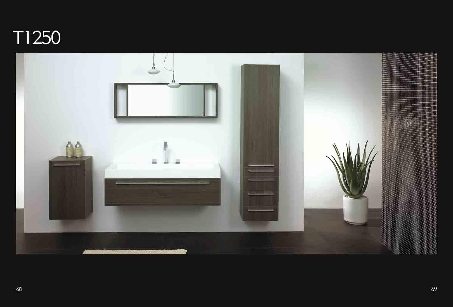 China Bathroom Sanitary T1250 China Bathroom Furniture Bathroom Cabinet Mirror Basin