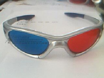 3D Sunglasses with Plastic Frame