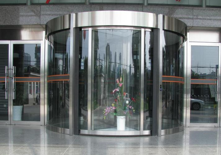 China revolving doors stainless steel construction