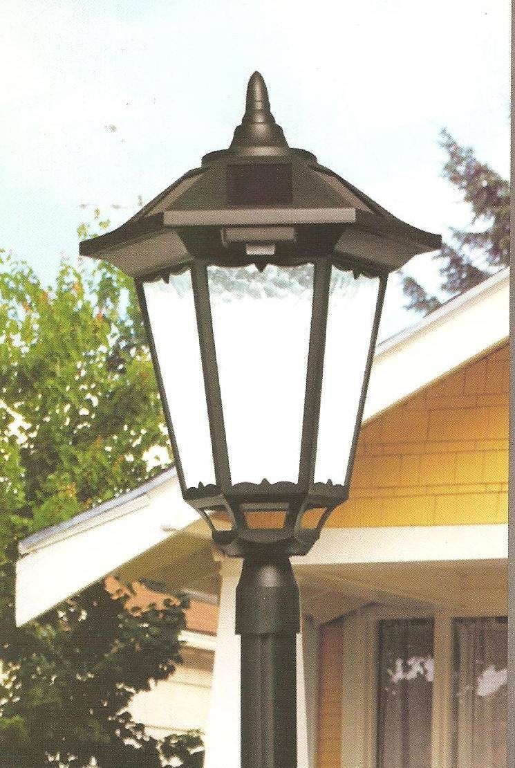 china solar led post lamp pl35 06a6207 china solar light outdoor. Black Bedroom Furniture Sets. Home Design Ideas