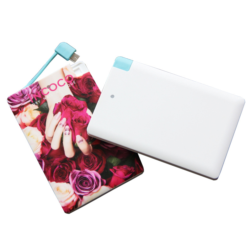 Mobile Power Bank 2500mAh Portable Power Card Shape 7mm