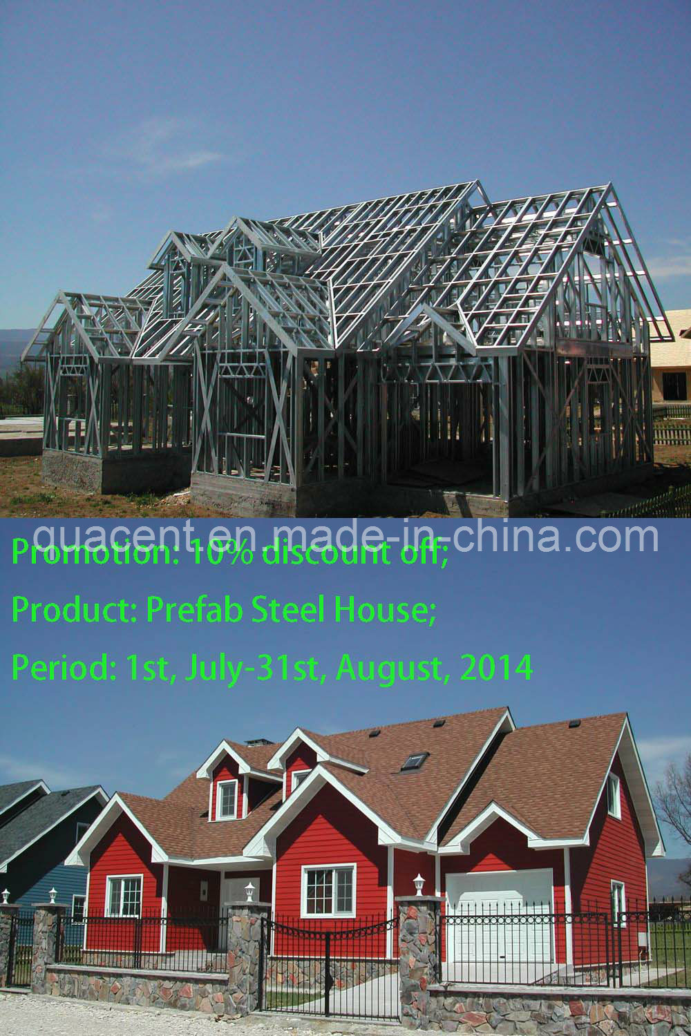 China prefab steel house photos pictures made in for Prefab steel house