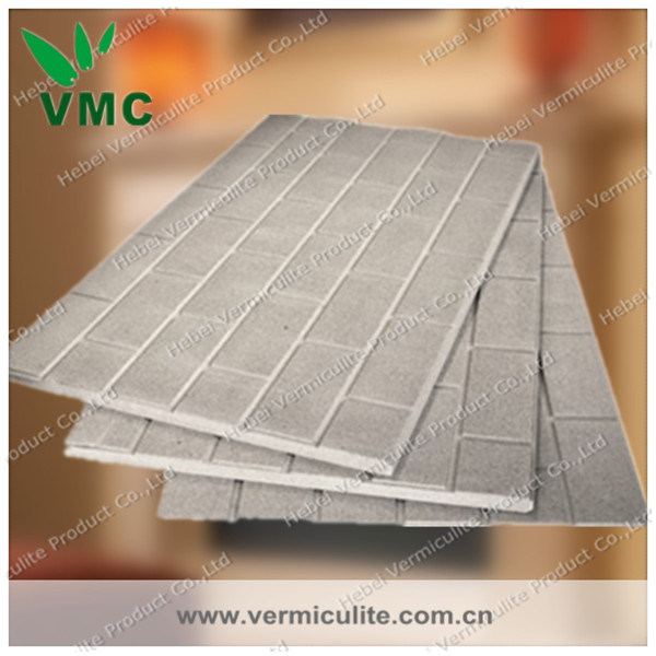 Fire Resistant Board : China vermiculite brick effect heat resistant fire board