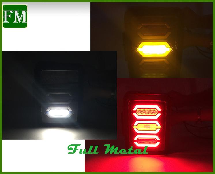 Multiple-Fuction White/Yellow 36 LEDs 12V/24V DC for Jeep Wrangler Jk