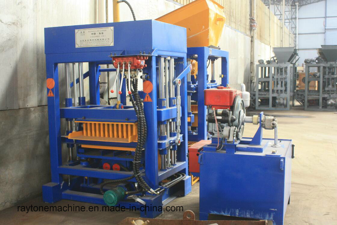 Qt4-30 Concrete Diesel Engine Block Making Machine Paver Brick Machine