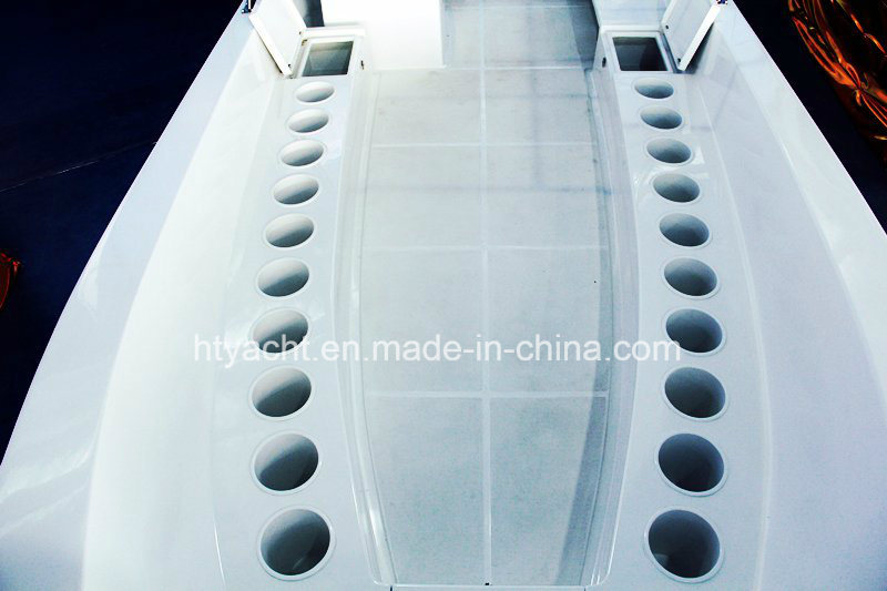 28′ Fiberglass Diving Work Boat Hangtong Factory-Direct