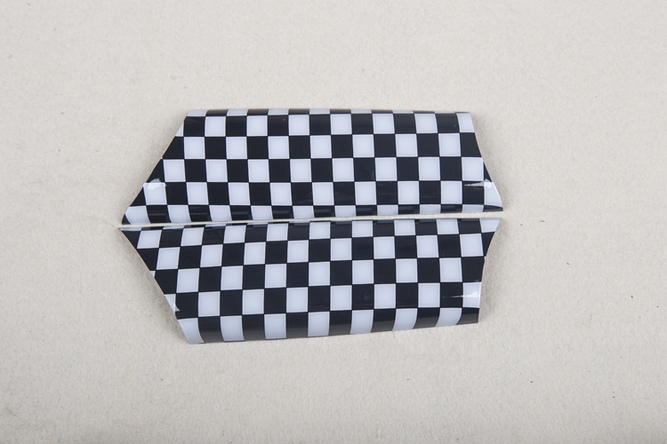 Brand New ABS Plastic UV Protected Sporty Small Chequered Color Style with High Quality Door Inner Handle Covers for Mini Cooper R56