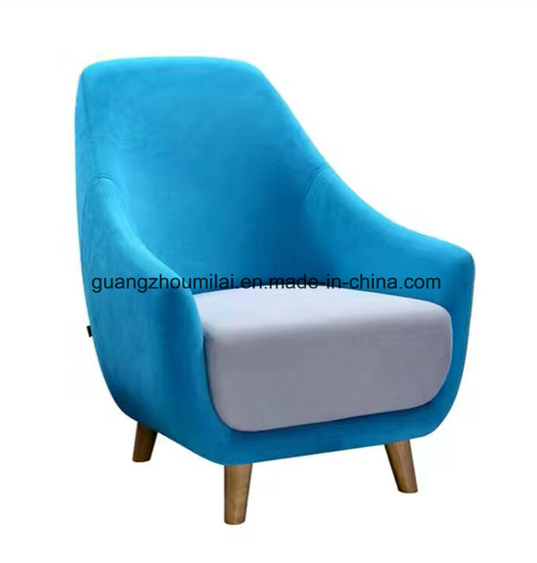 Fashion &Modern Office Furniture Leisure Cashmere Sofa with Wood Leg