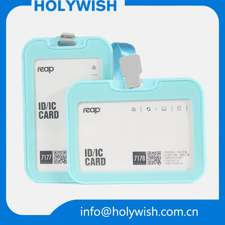 Vertical Type ID Cardholders Lanyard Custom Card Holder