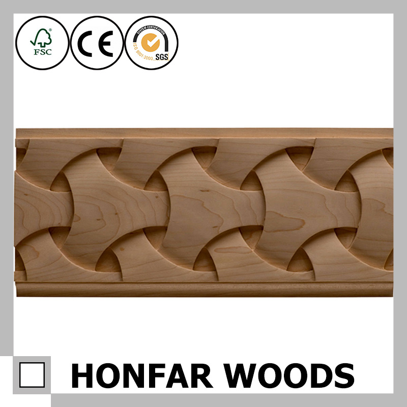Hotel Decoration Accessories Wood Carved Molding Manufactured in China