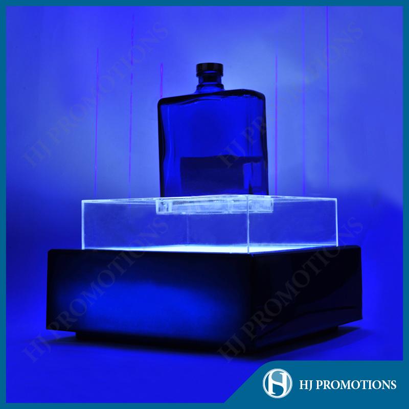 LED Lighting Blue Acrylic Wine Bottle Display Stand (HJ-DWL05)