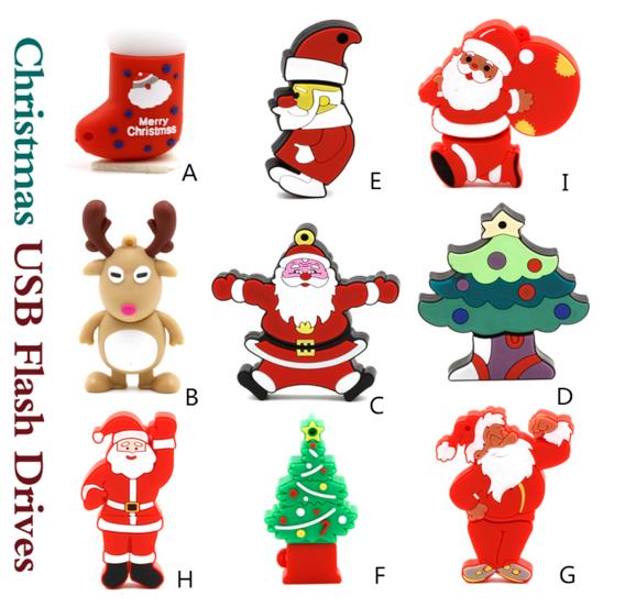 Small Style and Fashionable Christmas Gift Plastic USB Flash Drive