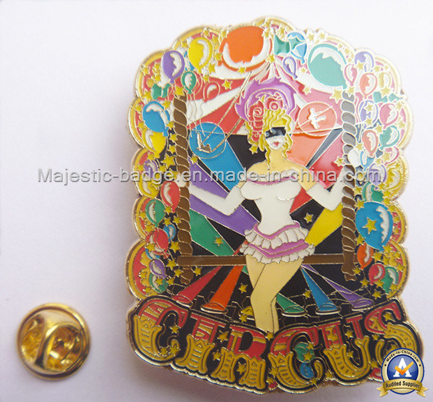 Gold Palted Zinc Die Cast Soft Enamel Epoxy Badge