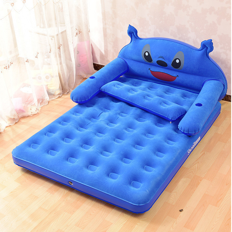 Comfortable Design Inflatable Carton Character Air Bed for Kids or Childrens