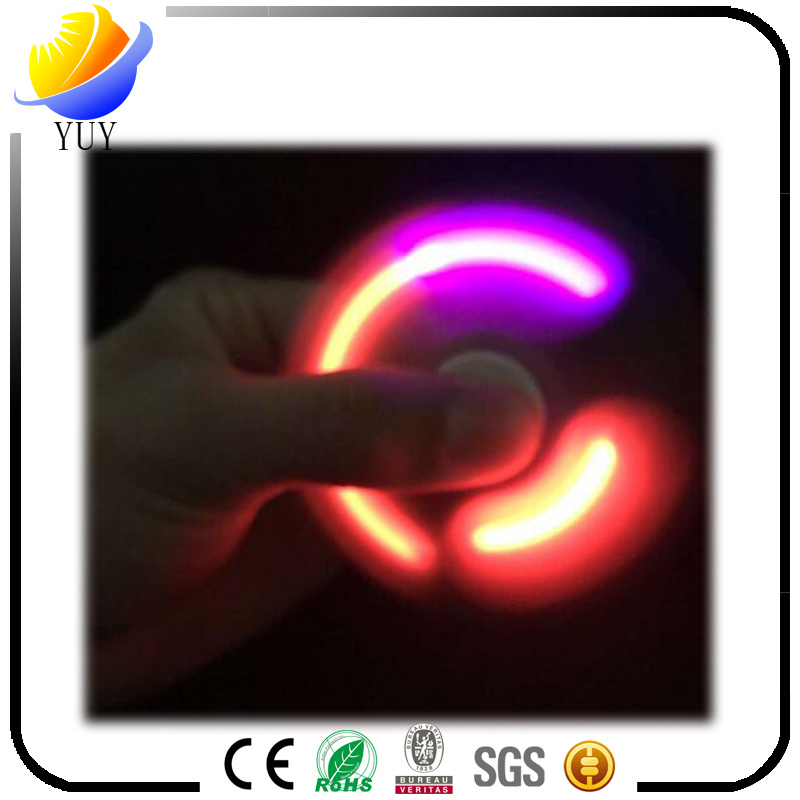 Magical Rainbow Glow Metal Fidget Hand Finger Spinners