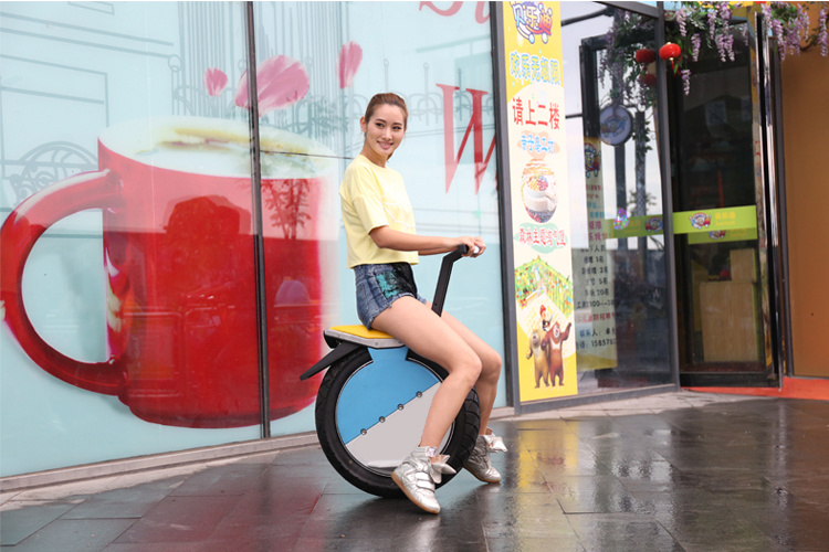 Popular 17 Inch Self Balance One Wheel Electric Motorcycle Scooter