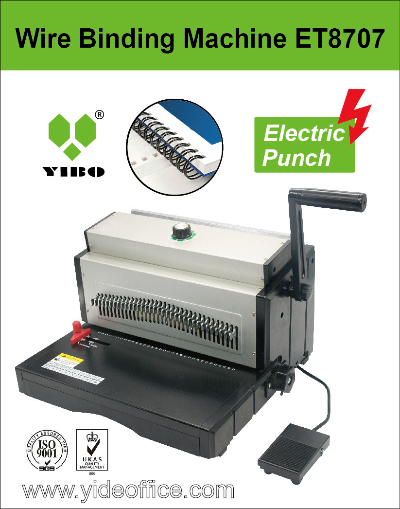 A3 Size Electric Punching Wire Binding Machine P3: 1 (ET8707)