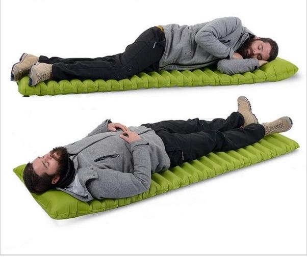 Inflatable Camping Mat No Pump Outdoor Camp Tent Sleeping Pad Breathable Damp-Proof Single Air Mat Mattress