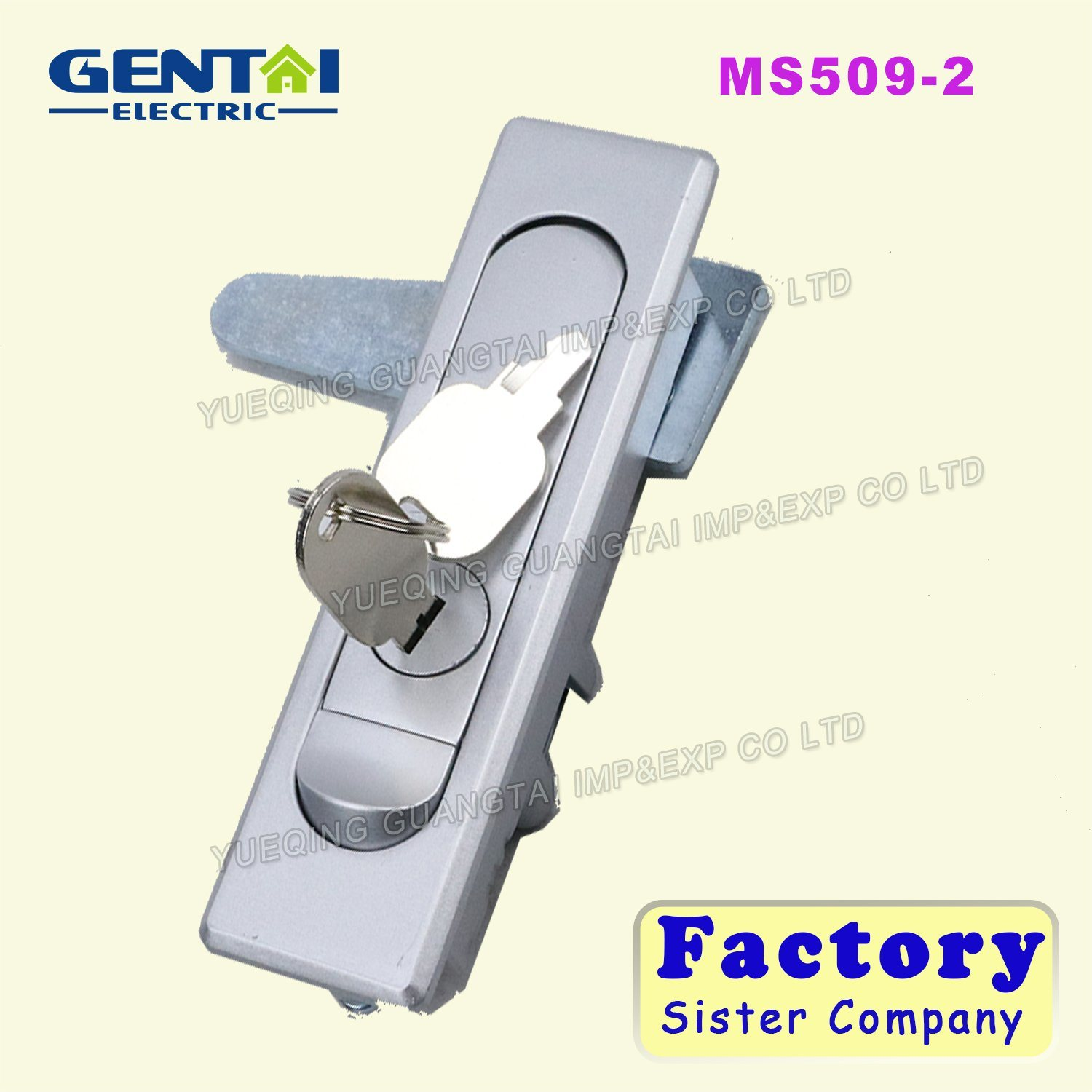 Newest Industrial Waterproof Panel Flat Door Lock with Push-Button Cylinder