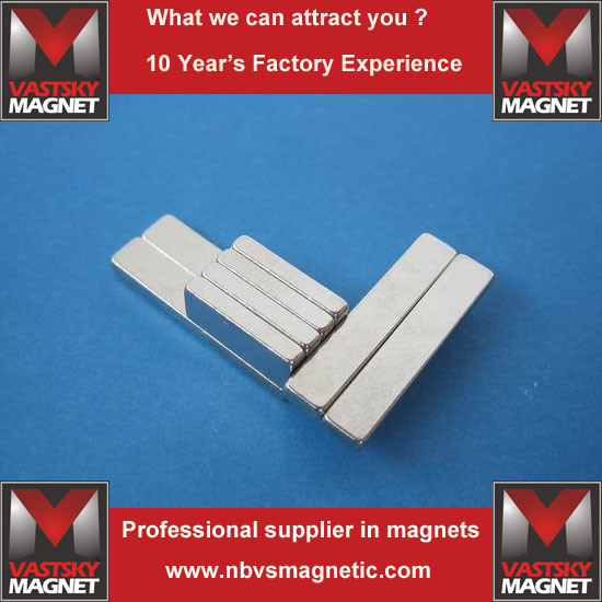 Powerful Industrial Sintered Rare Earth Magnets of N45 N48 N52