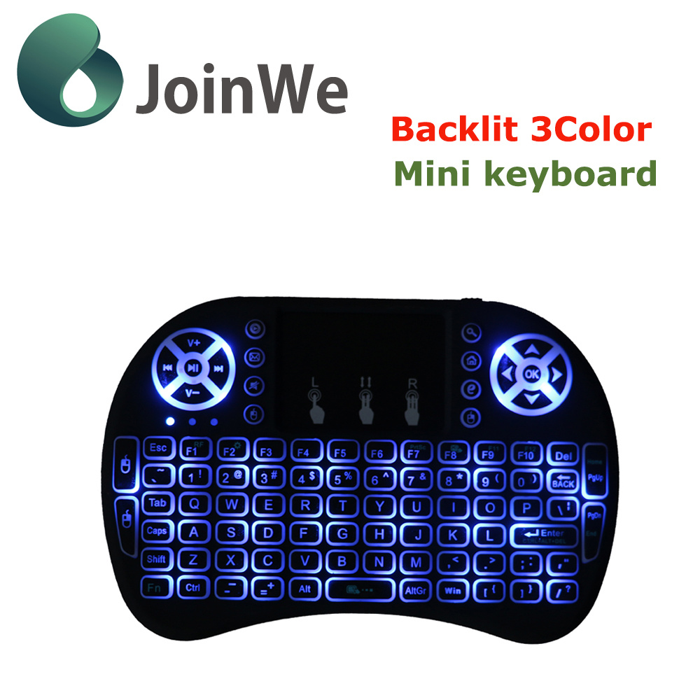 I8 Fly Mouse with 3 Color Mini Keyboard Air Mouse