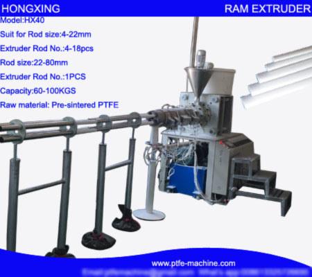Horizontal PTFE Rod RAM Extrusion Machine