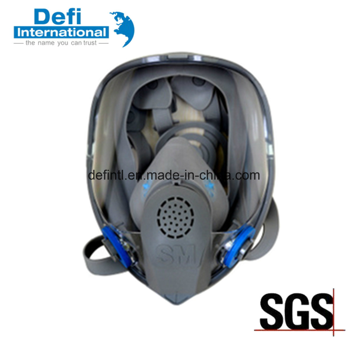 Double Filter Protective Gas Mask Chemical Respirator