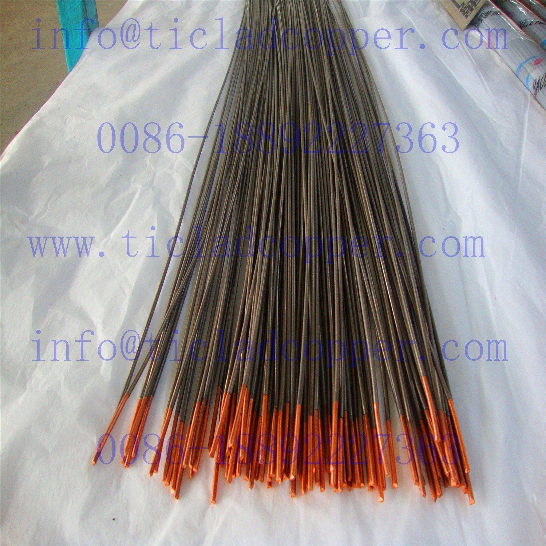 Dsa Titanium Clad Copper Wire/Rod Anode for Chloro-Alkali Industry