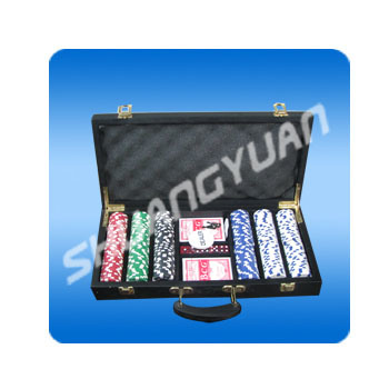 300PCS Poker Chip Set in Wooden Case