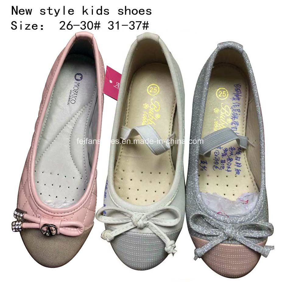 Children Fashion Sweet Bowknotballet Flat Ballerina Girl Dress Shoes (mm171)