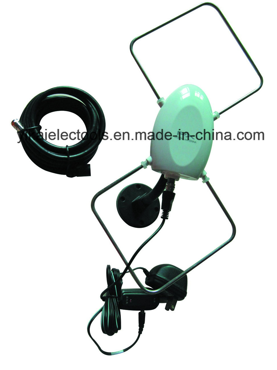 Indoor and Outdoor Digital HD TV Antenna with Universal Direction Base