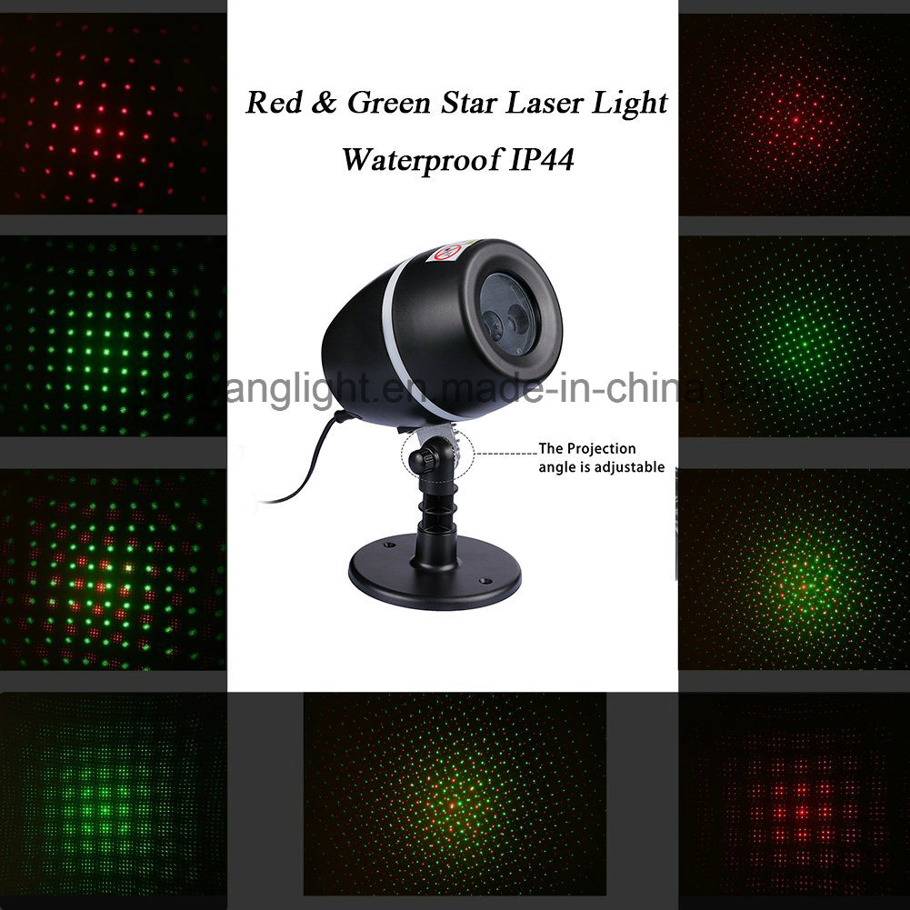 Waterproof Outdoor Xmas Christmas Decoration Red&Green Star Laser Light