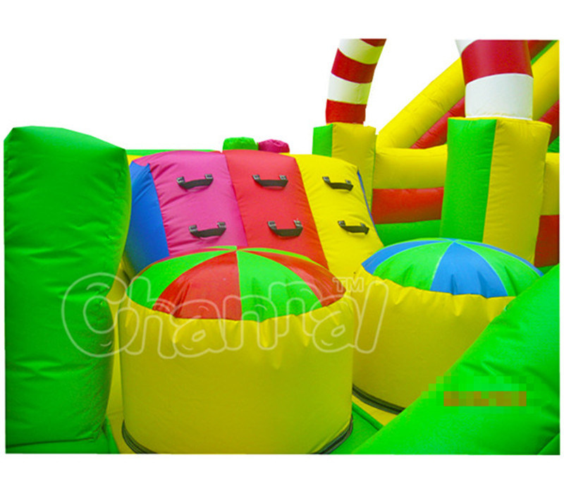 Wholesale Cartoon Theme Castle Inflatable Slide with Toys
