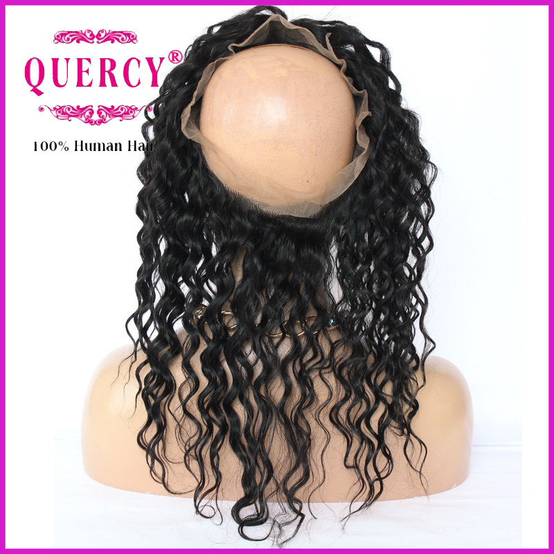 High Quality 360 Lace Frontal Closure 13X2 13X4 Brazilian Deep Wave 360 Lace Frontal