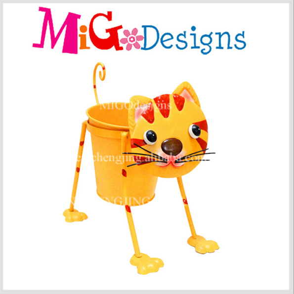 Metal Flower Planter Pot New Style Fashion Loyal Dog