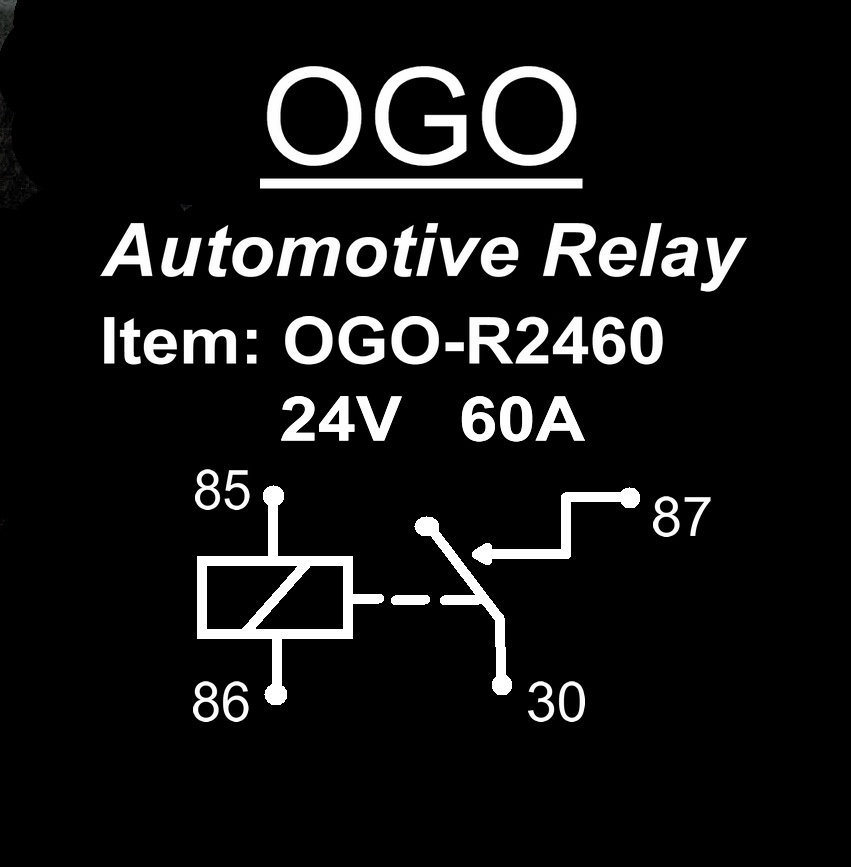 Ogo Branded Automotive Relay 24V 60A