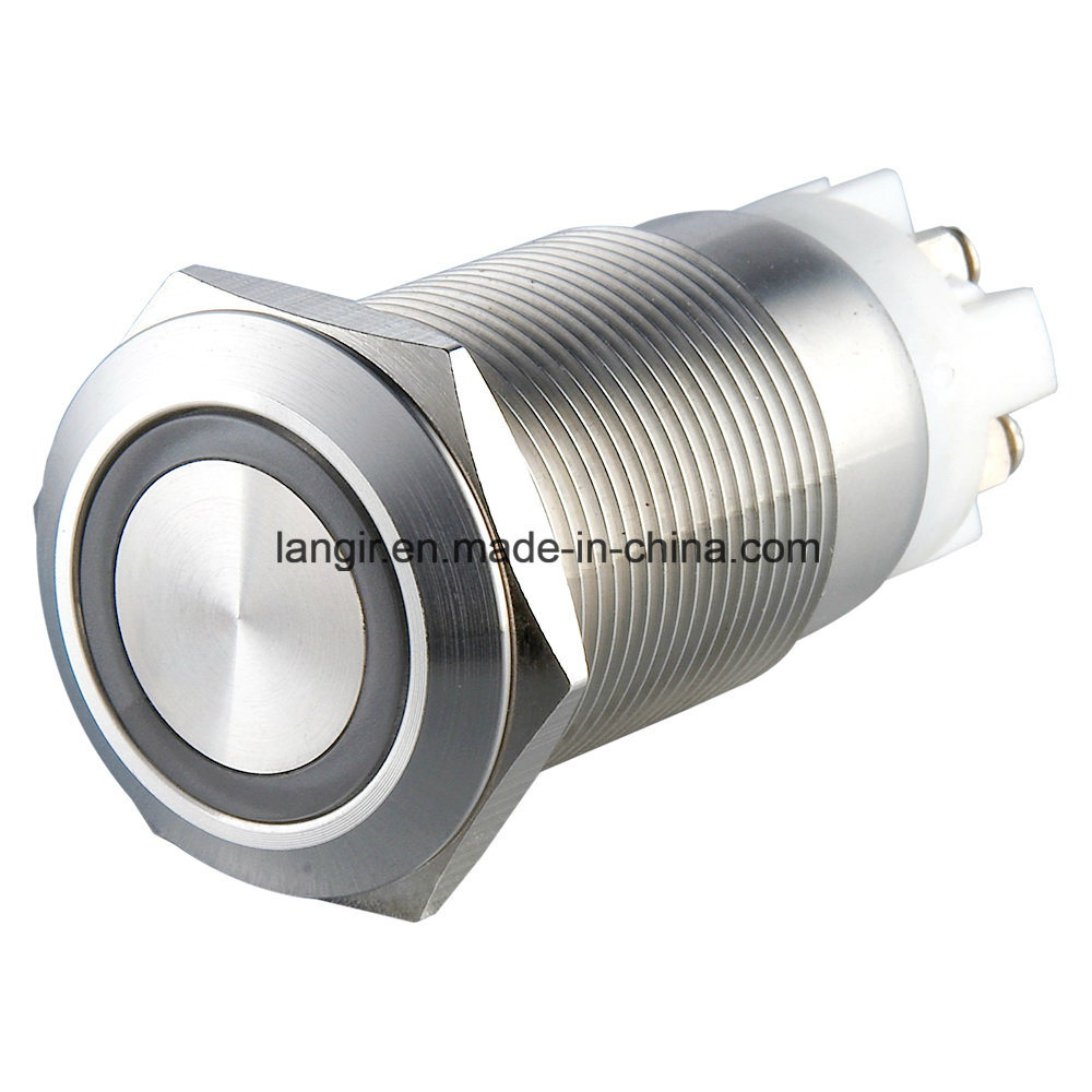 Momentay Ring Illuminated Metal Push Button Switch (16mm, 19mm, 22mm, 25mm, 30mm)