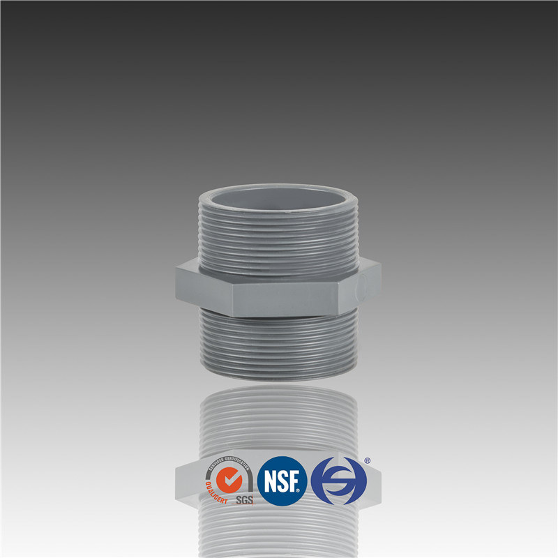 Two Threaded Ends PVC Pn10 Male Adaptor (T*T)