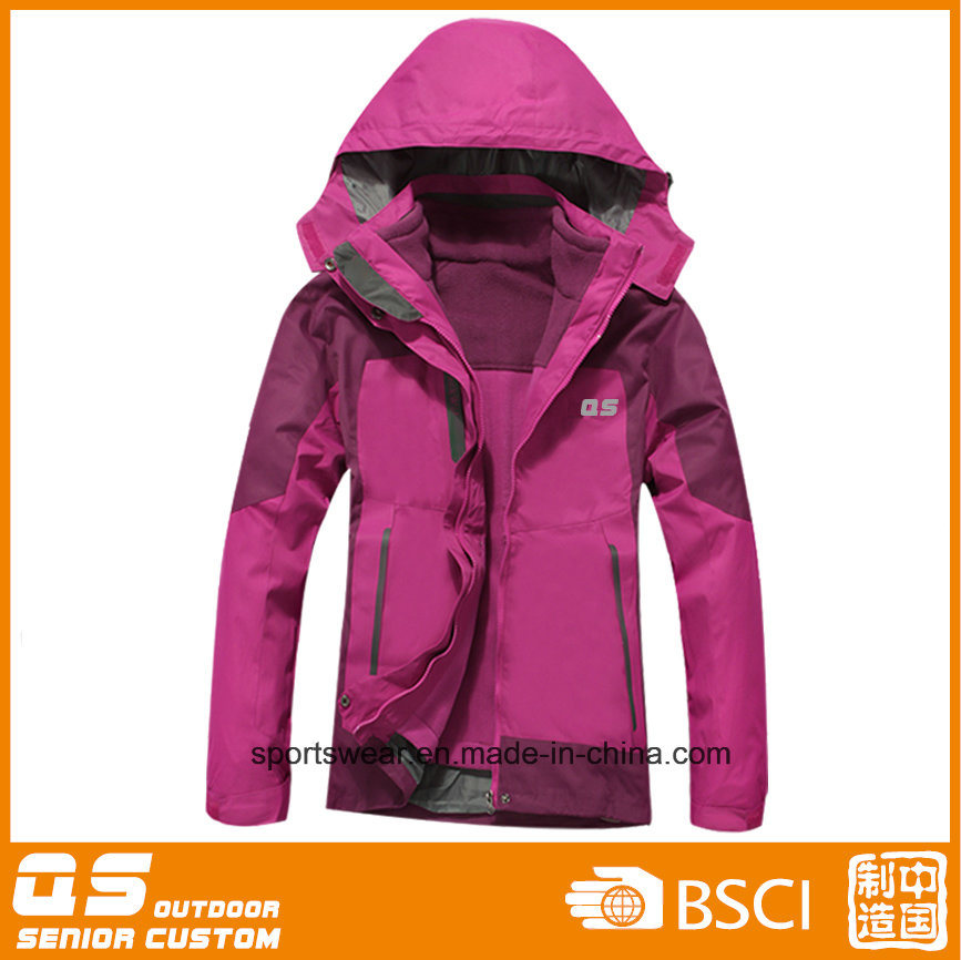 Women′s 3 in 1 Outdoor Waterproof Warm Jacket-Alex