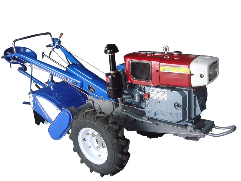 The Walking Tractor Machine with Rotary Tiller