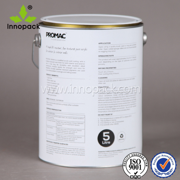 Printed 4L Metal Bucket for Ink and Paint
