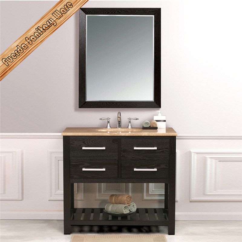 Fed-1118 60 Inch Unique Marble Top Double Sinks Modern Bathroom Vanities