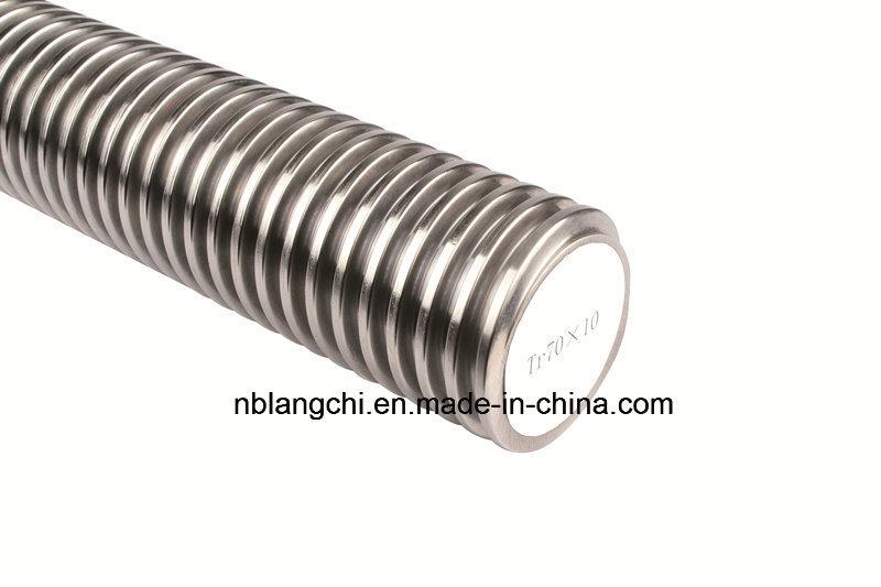 Precision Roller Trapezoidal Thread Open Screw Lead Screw Tr70X10