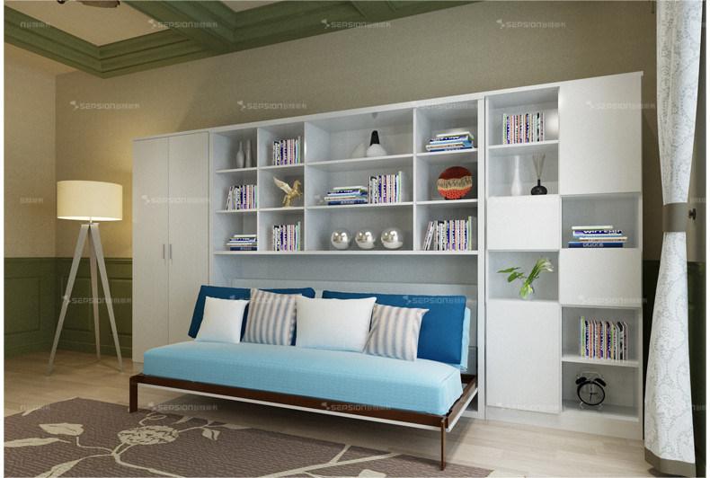 Modern Home Furniture Horizotal Tilting Murphy Wall Bed