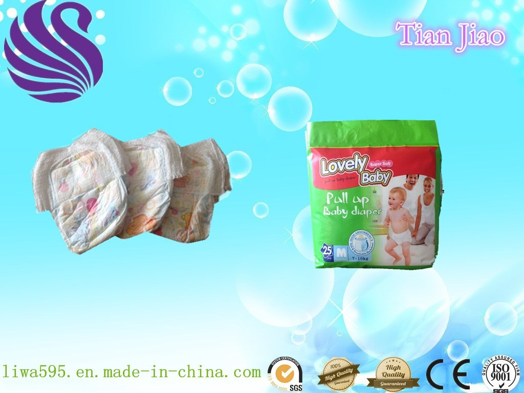 Cheap Disposable Training Panty Style Baby Diapers with SGS Certificate