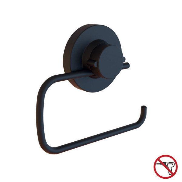Matt Black Stainless Steel Suction Toilet Roll Holder