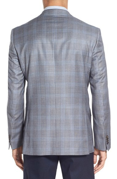 OEM Latest Design Men′s Trim Fit Business Checked Blazer Suit
